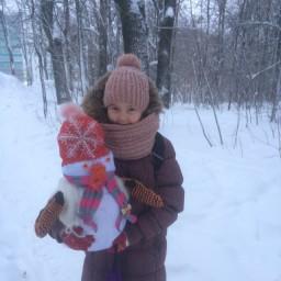 Сделали Снеговика в школу на выставку