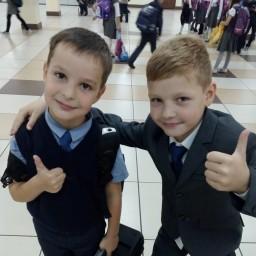 Мой двоюродный брат.в школе